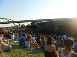 view of the summerfest lawn